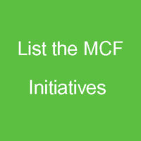 Manly Community Forum - List the MCF Initiatives